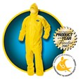 KLEENGUARD* A70 Chemical Spray Protection Coveralls / Hooded / Large / Yellow